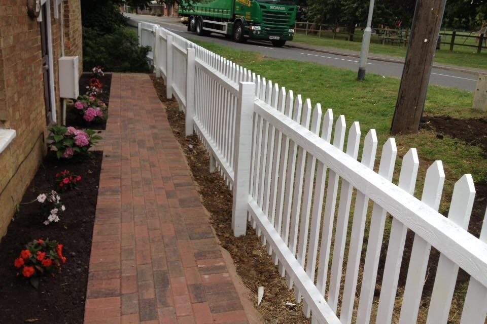 Picket fence erected by Paul in Bretton