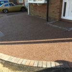 Resin and Block Bordered Driveway Installed in Peterborough