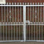 Bespoke made metal driveway gate