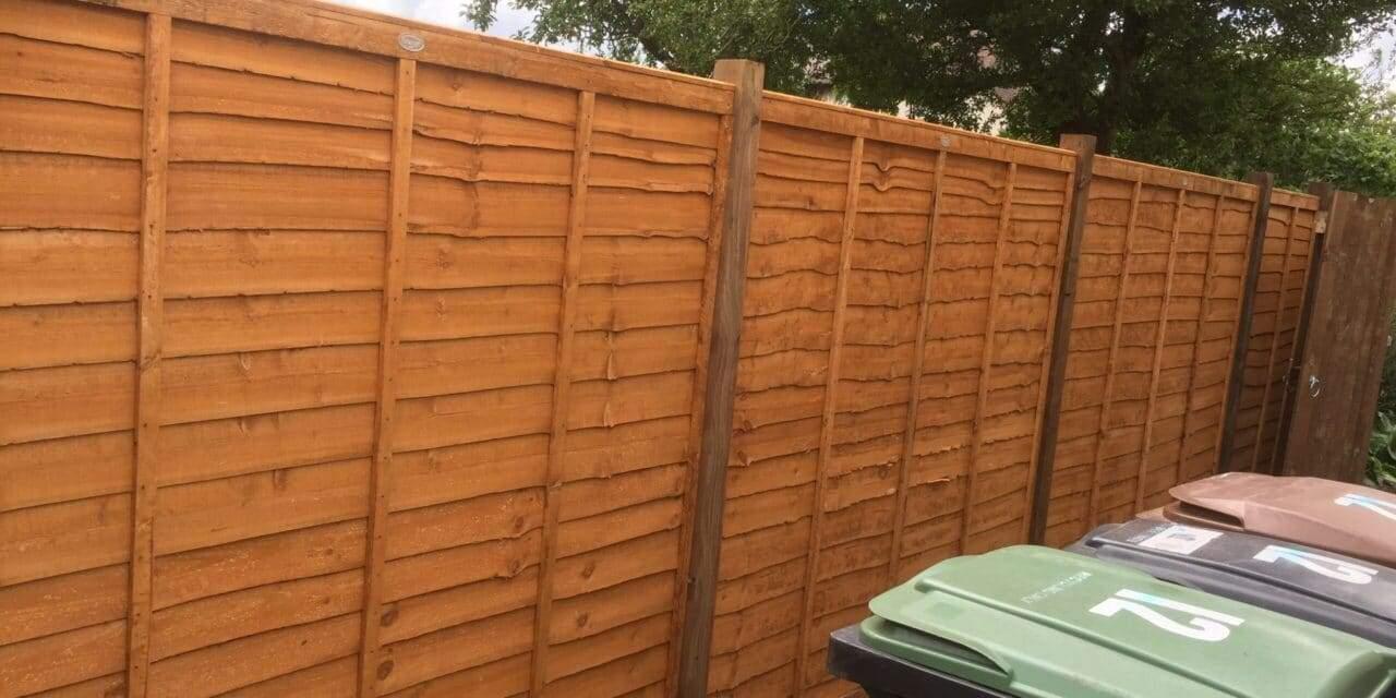 Waney Lap Panel Fencing Peterborough