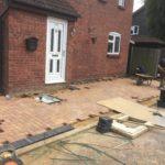 Block paving being installed in Peterborough