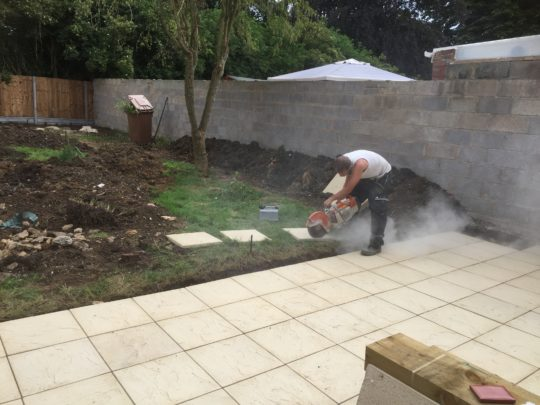 Patio being laid in Dogsthorpe Peterborough