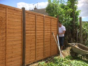Waney Lap Panel Fencing Contractor Peterborough