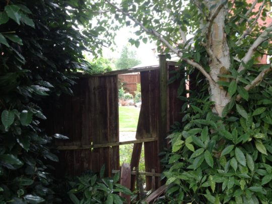 Damaged Fence in Oakham