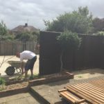 Paul Installing New Fence in Dogsthorpe Peterborough