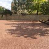 Almost Finished Resin Driveway finished in Staffordshire Pink Resin