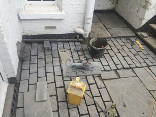 Stone Paving - Garden Basement Peterborough