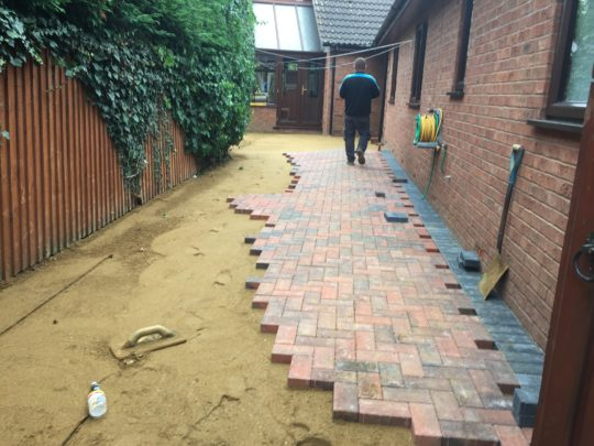 Block paving install started