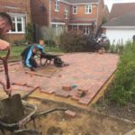 Block Paving Being Installed in Yaxley