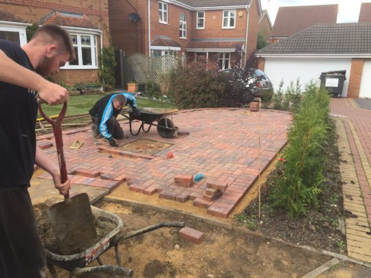 Block Paving being Installed