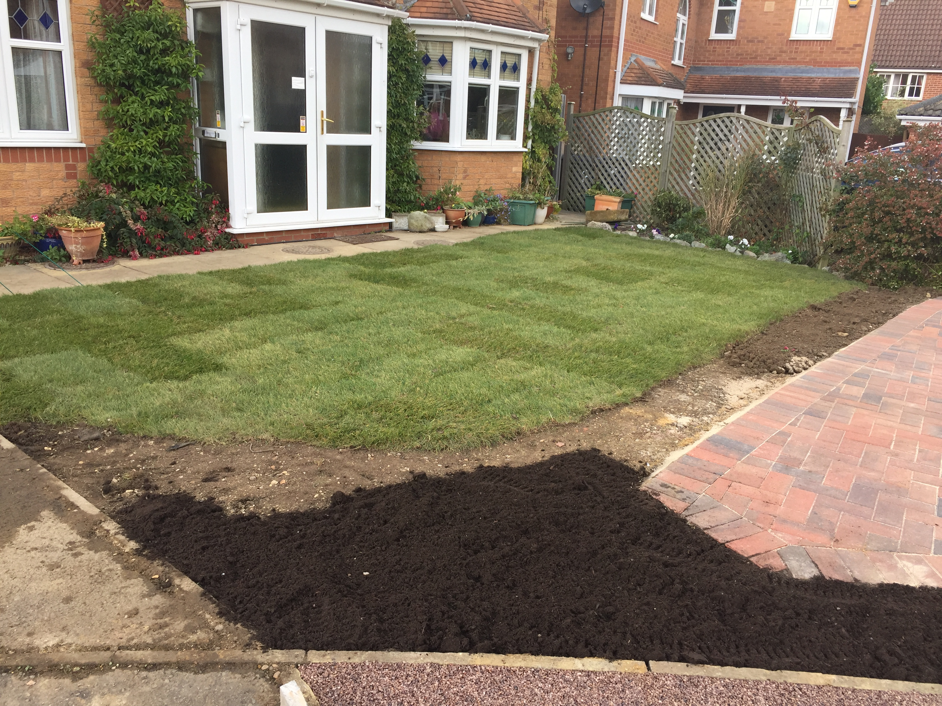 After Turfing and Paving