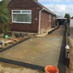 Block Paving Driveway Edging Being Laid in Werrington