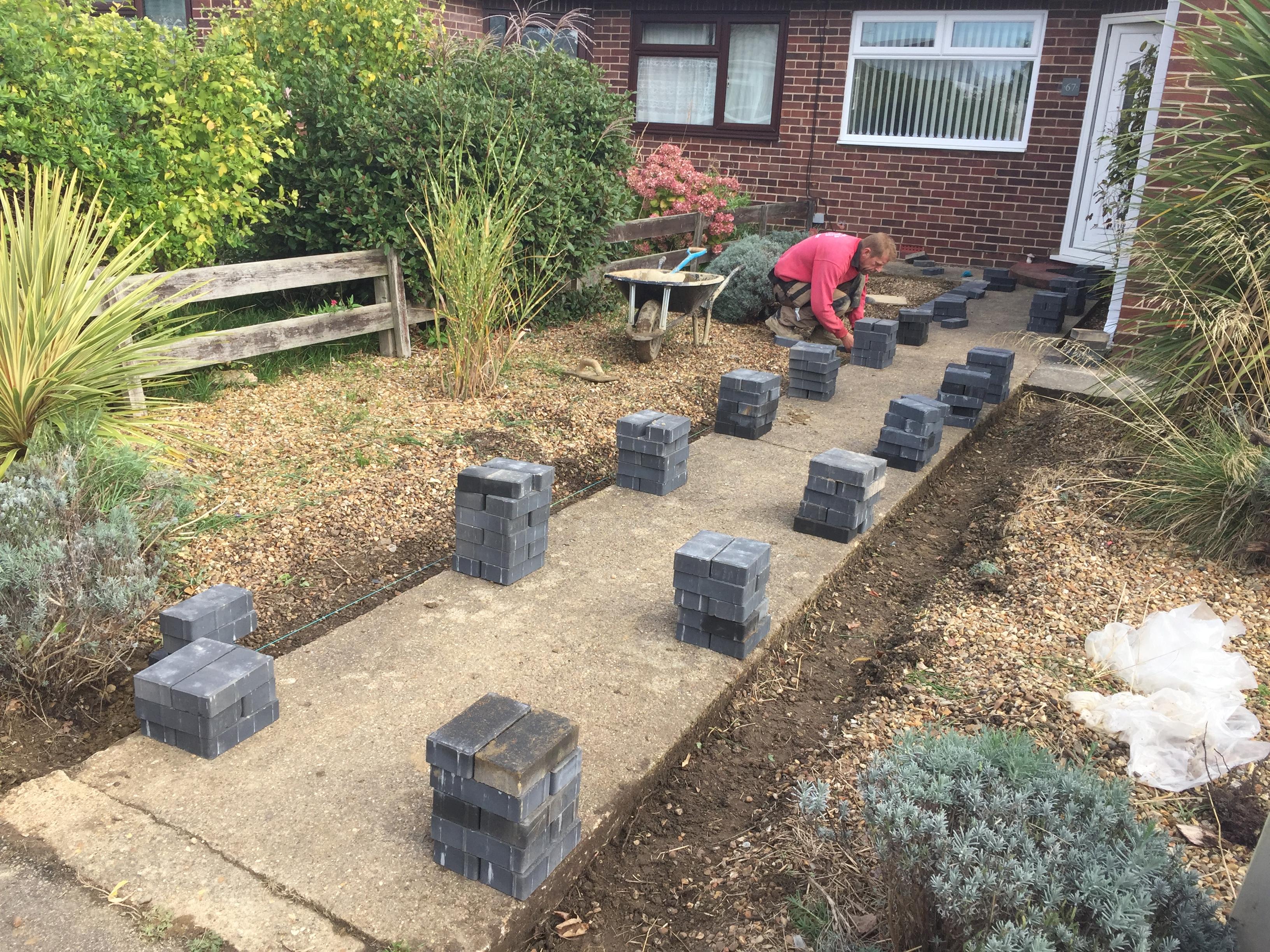 Block Paving Pathway Edging