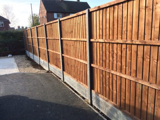Fencing Panels on Concrete Posts