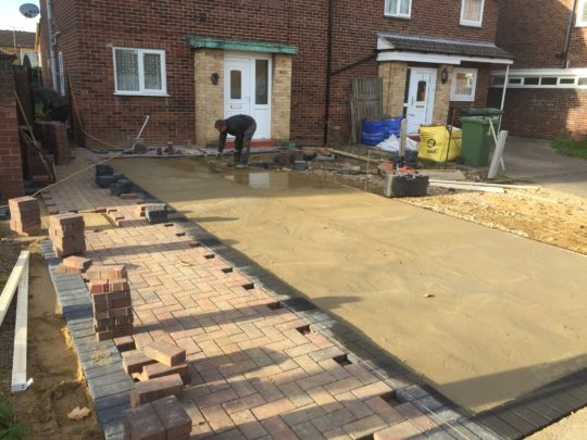Driveway Being Installed in Peterborough