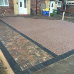 Block paving and resin driveway