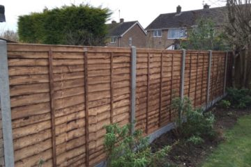 Waney Fence Panel Installation in Peterborough