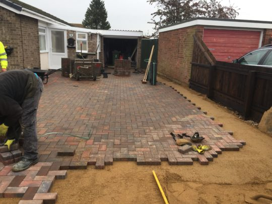 Block Paving driveway in Whittlesey