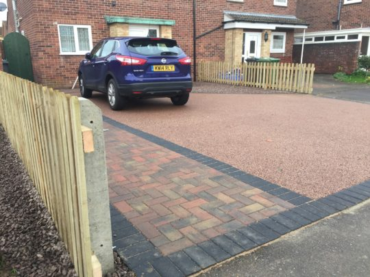 Staffordshire Pink Resin Driveway