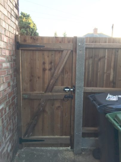 New Garden Gate with panel Peterborough