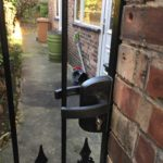Metal Gate Lock With Key