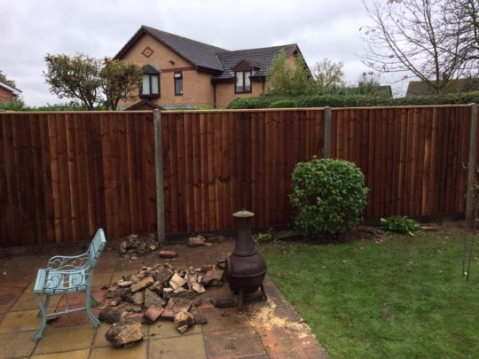 Fencing on Concrete posts in Peterborough