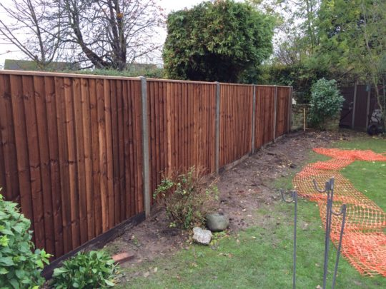 Fence installed in Sherbourne Road Peterborough