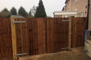 Wooden driveway gates installed in Peterborough