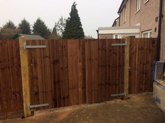 Wooden Driveway Gates Peterborough