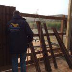 Paul installing panels