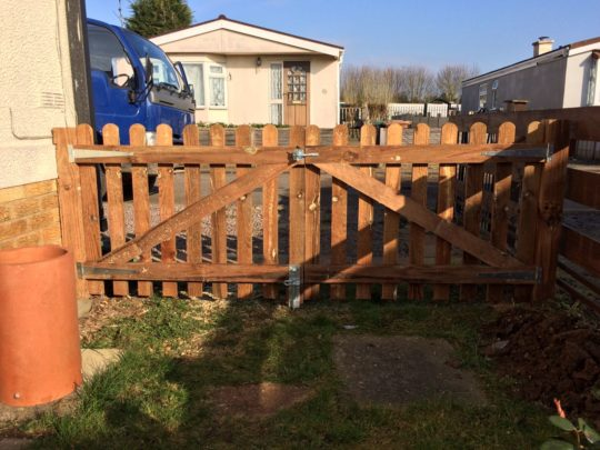 Replacement Wooden Gates installed in Peterborough
