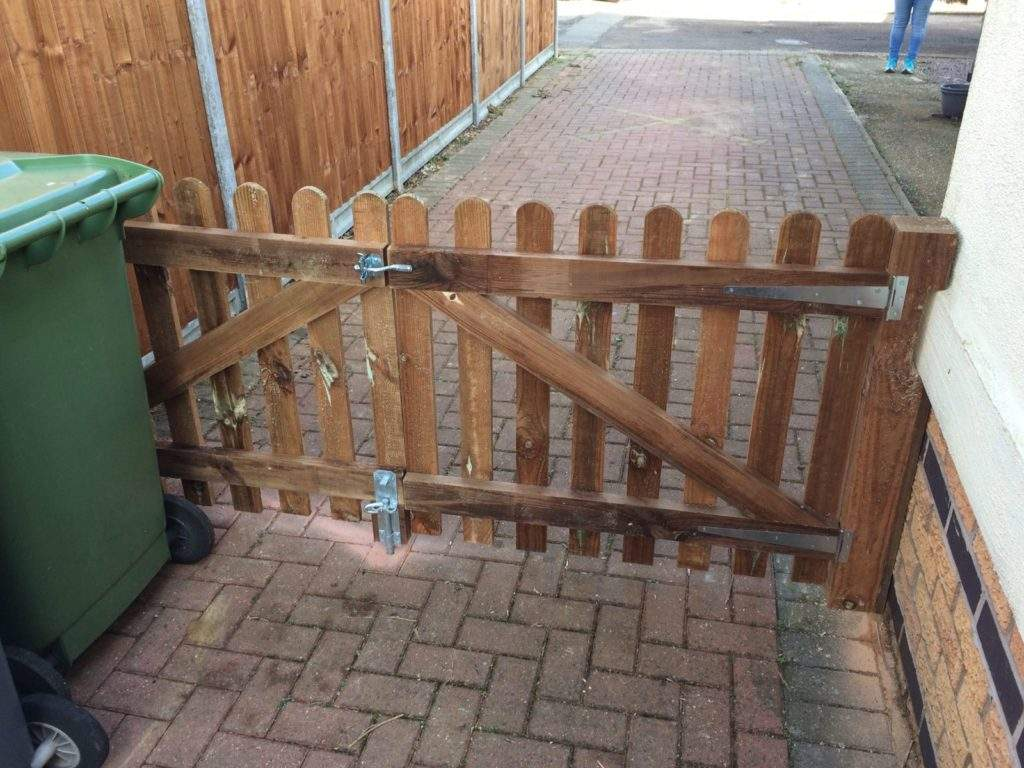 Wooden Driveway Gates Made and installed for a client in Peterborough