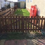 Double Wooden Driveway Gates installed in Eye