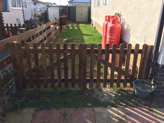 (AFTER) Double Wooden Driveway Gates installed in Eye