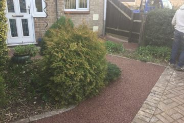 Staffordshire Pink Resin Drive installed in Paston Peterborough