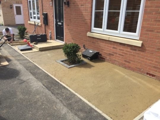 Area Concreted ready for install