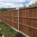 """6ft 6"""" Fencing Panels on concrete posts"""