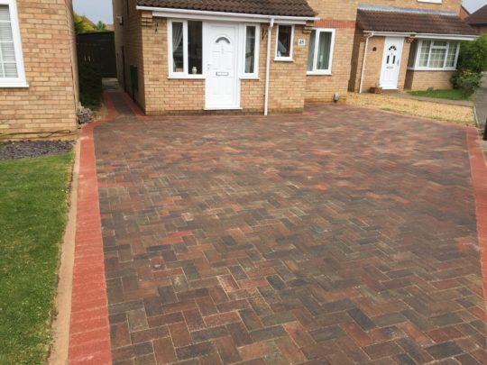 Block Paved Drive completed in Werrington