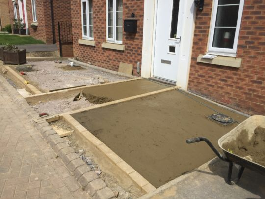 Part of the Concrete Base Installed