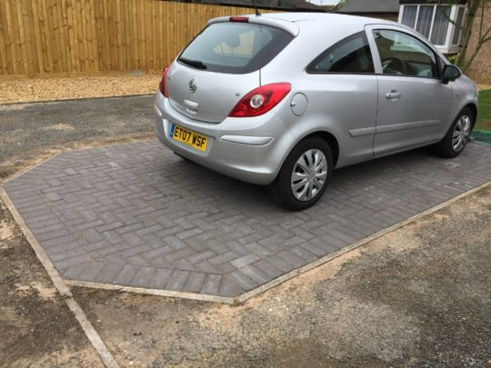 Block Paving Driveway finished in Charcoal