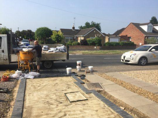 Block Edgings installed for Resin Drive