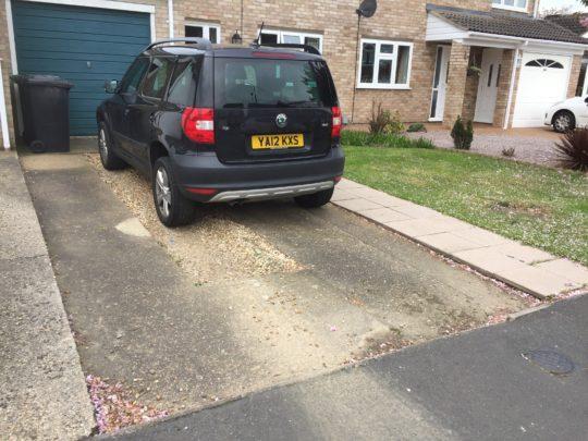 Old Concrete Driveway in Werrington