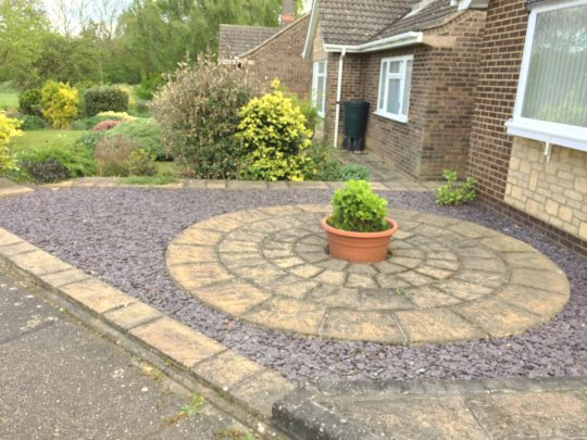 Before garden makeover in Werrington