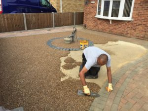 Resin Being Trowelled in Stanground Peterborough