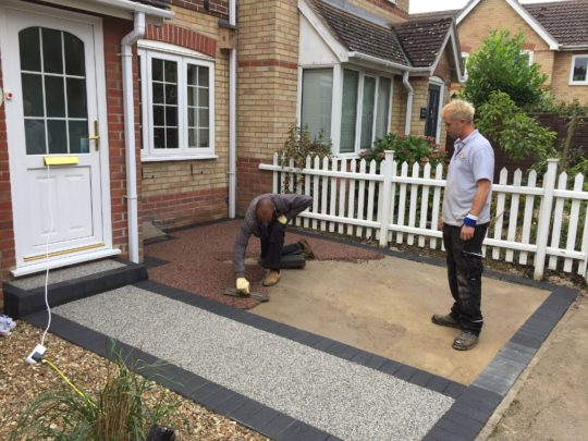 Resin Being Installed in Chatteris
