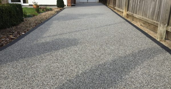 Old Concrete Driveway In Werrington Transformed With Resin