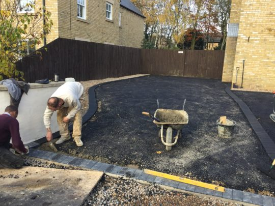 Block Paving Edgings Being Installed Whittlesey Peterborough