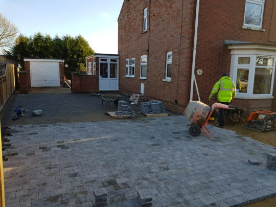 Block Paving Being Laid in Spalding