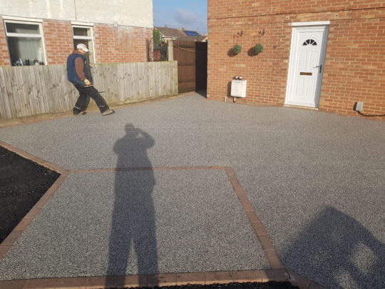 Resin Drive Being Installed in Whittlesey