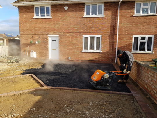 Tarmac Base Being Laid